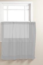 "Graceful Short Panel Solid Sheer Window Curtain Rod Pocket 58 Inch x 36"" Long"