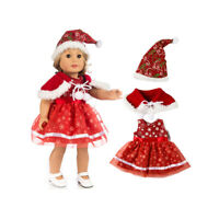 18'' Doll Clothes For AG American Doll Doll Dress Hat Kids Toy Christmas Gifts