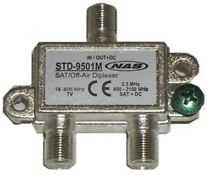 DIPLEXER STD-9501M NAS  VHF/UHF/SAT/INTERNET Separator/Combiner 950-2150MH