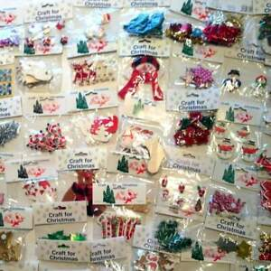 Job Lot of 20 packs of Christmas Embellishments Fun Childrens Projects New