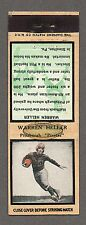 1934 DIAMOND MATCHBOOK WARREN HELLER PITTSBURGH PIRATES FOOTBALL TAN EX/MT+