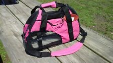 """Showman Hot Pink Soft Sided Padded Nylon Dog Carrier 15""""L × 12""""H × 6.5""""W"""