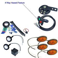 ATV handlebar thumb switch oval amber LED turn signal and horn install kit