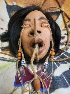 MUSEUM QUALITY SHRUNKEN *FEMALE* HEAD REPLICA, MACABRE , MUMMIEFIED, CARNIVAL,