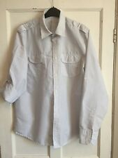 Men's White Grey Striped Long Sleeved Shirt from Primark Size XL