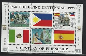 Philippines #MiBl147 MNH S/S CV€6.50 Philippine Independence/IPPS Ovpt [2629]