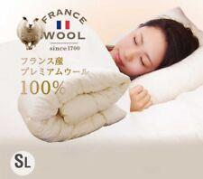 Japan Made French Premium Wool 100% Comforter Single Ivory Fast Ship japan EMS