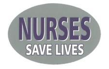 Nurses Save Lives 5.75 Inch Oval Magnet