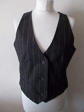 Women's Brown Stripe V Neck  Waistcoat Vest By Atmosphere Size 14/16