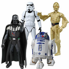 4 x Star Wars Metacolle Mini Diecast Darth Vader, stormtrooper, C-3PO and R2-D2