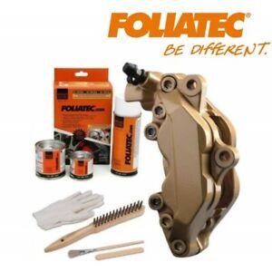 Kit peinture étrier ou tambour de frein Foliatec or métallisé 2165 Prestige Gold