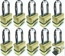 Combination Lock Set Master 1175LH (Lot 10) Resettable Long Brass Sealed Carbide