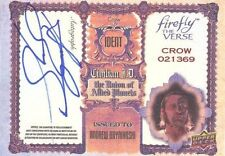 2015 UpperDeck Firefly The Verse AN Andrew Bryniarski Crow Actor Autograph Card!