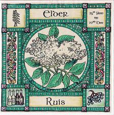ELDER TREE GREETING CARD 25th Nov - 22nd Dec CELTIC PAGAN Birthday OGHAM WICCAN