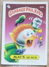 Vintage 1986 Topps Garbage Pail Kids Series 3 Trading Card MACK QUACK 106b