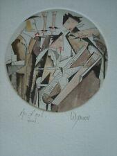 "Josef WERNER -- ORIGINAL SIGNED ETCHING -- ""Sextet"""