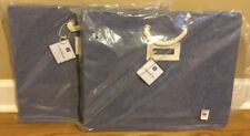 NEW 2PC Pottery Barn Teen Solid Canvas Bins CHAMBRAY Large Under Bed