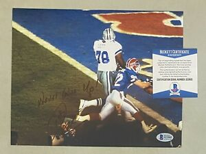Don Beebe Signed 8x10 Photo Autographed AUTO Beckett BAS COA Buffalo Bills