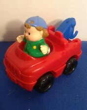 Fisher Price Little People Red Tow Truck & Mechanic Man