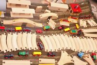 HUGE Lot 18 lbs 300+ pc BRIO WOODEN Railway Train & Track Set