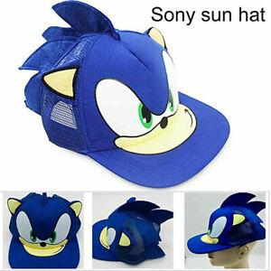 Kids Cartoon Sonic the Hedgehog Baseball Cap Boys Girls Game Cosplay Hat Gift