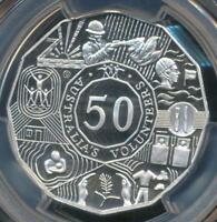 Australia, 2003 Fifty Cents 50c, Elizabeth II (Volunteers)-PCGS PR69DCAM (Proof)