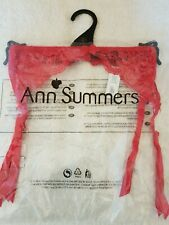 Ann Summers Lace Suspender Belt Size Medium 12-14 With Tags Red aefd506b0aa