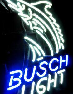 Handcrafted Busch Light Sword Fish Real Neon Sign Beer Bar Light Home Wall Decor