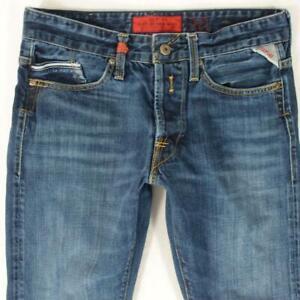 Mens Replay M983 WAITOM Slim Straight Blue Jeans W30 L32