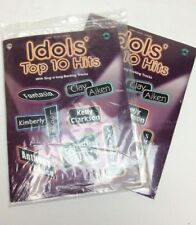 Idols' Top 10 Hits With Sing-A-Long Backing Tracks Piano/Vocal/Chords; NEW