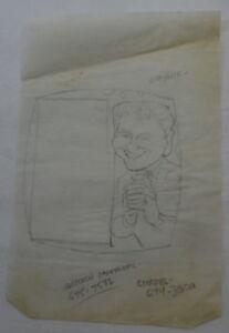 AL KILGORE pencil drawing LAWRENCE WELK Show CELEBRITY Puzzle Series AKd295
