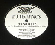 "DJ TECHNICS Push  it Up 12""  RECORD BALTIMORE RAP BREAKS HARDCORE"