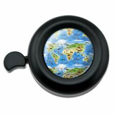 Animals of the World Continents Atlas Globe Pattern Bicycle Handlebar Bike Bell