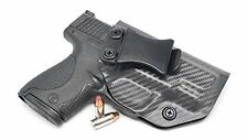 S&W M&P SHIELD 9/40 KYDEX IWB Gun Holster (Carbon Fiber Storm Grey - Right Hand)