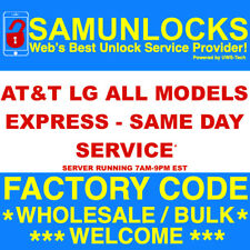 AT&T Network Unlock Code for LG G7 G6 V35 G5 V30 SIM PIN All IMEI - SAME DAY
