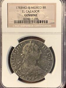 1783MO FF MEXICO 8R EL CAZADOR NGC GENUINE SHIPWRECK COIN