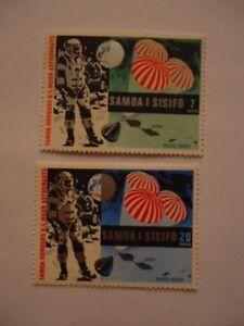 Samoa 1969 SG330-1 7s-20s MNH First man on the Moon