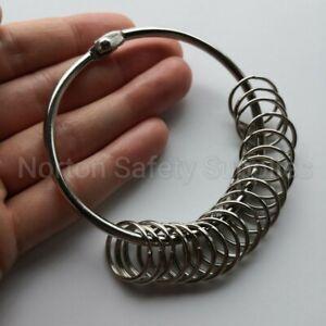 Extra Large (76mm) 20 x Multi-Ring Jailers Fob / Keyring / Split Ring (FREE P&P)
