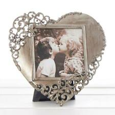 Vintage Style Ornate Rustic Metal Heart Photo Frame New Boxed 10133