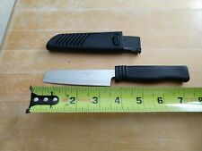 Stainless Steel Mini Chef's Knife with Black Handle and Sheath