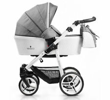 New Venicci Pure 2 in 1 pram & pushchair in Denim Grey with bag & raincover