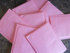 180 Pastel Pink 4 x 8 Kraft Bubble Mailer #000 Self Seal  Envelope Padded Mailer