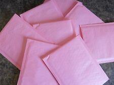 25 Light Pink 4 x 8 Kraft Bubble Mailer Self Seal Pastel Envelope Padded Mailer