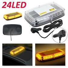 24LED Amber Warning Strobe Flashing Light Recovery Magnetic Beacon 12/24V 7Modes