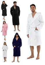 Mens Ladies 100% Cotton Towelling Bath Robe Dressing Gown Womens House Coat Size