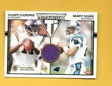 D20632  2002 Titanium #140 Daunte Culpepper JERSEY Randy Fasani RC #169/1000