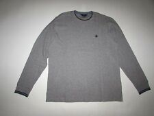 Brooks Brothers Men's Crewneck Sweater Large NWT Gray Navy Blue Cotton Pullover
