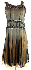 NWT MARC JACOBS Women's Blk Sheer Dress W/Sheer Peach Lining MSRP $328 Sz2 L216