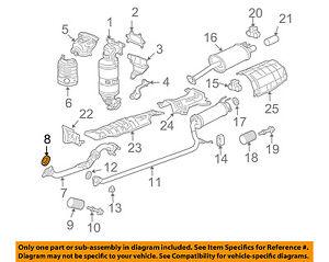 HONDA OEM Exhaust-Front Pipe Gasket 18229S5DA01