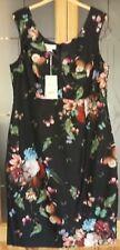 BNWT Monsoon Eleanora special occasion black digital print shift dress size 18